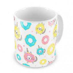 Кружка Пончик-котик-единорог