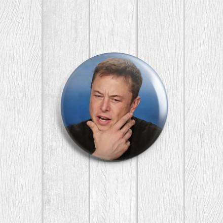 Значок круглый Илон Маск