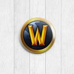 Значок круглый Warcraft