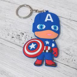 Брелок силиконовый Капитан Америка