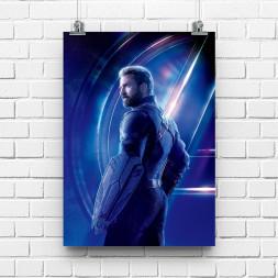 Постер Мстители Капитан Америка