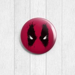 Значок круглый Deadpool
