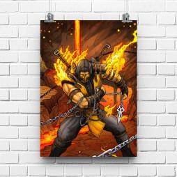 Постер Mortal Combat Scorpion