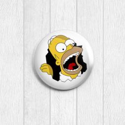 Значок круглый Гомер