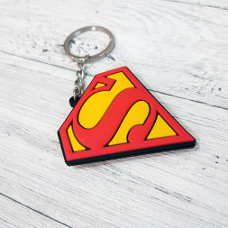 Брелок силиконовый Супермен #1