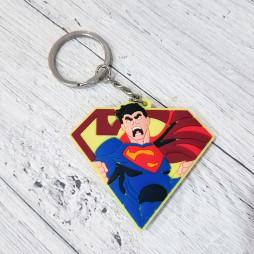 Брелок силиконовый Супермен #2