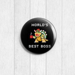 Значок круглый Best boss