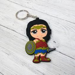 Брелок силиконовый Wonder Woman