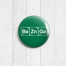 Значок круглый BaZnGa