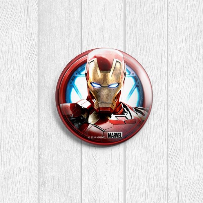 Купить Значок круглый Железный человек из комиксов ...