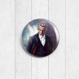 Значок круглый 12-й Доктор Кто