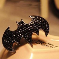 """Двойное кольцо """"Бэтмен"""""""