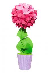 Набор для творчества ВОЛШЕБНАЯ МАСТЕРСКАЯ Топиарий Гортензия розовая