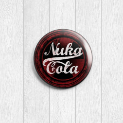 Значок круглый Nuka Cola