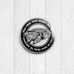 Значок круглый Тысячелетний сокол