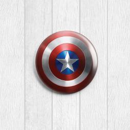 Значок круглый Капитан Америка