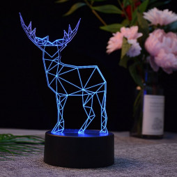 3D светильник Олень