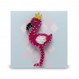 Стринг арт STRING ART LAB Фламинго